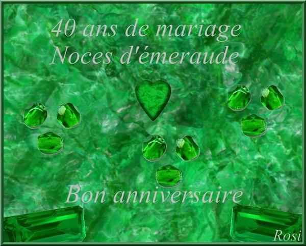 40 ans de mariage noces dmeraude - 40 Ans De Mariage Noce De