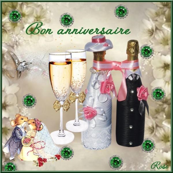 Joyeux anniversaire de mariage a ma soeur gosupsneek - Anniversaire mariage 4 ans ...
