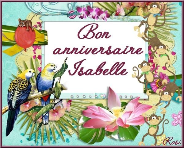 Carte Bon Anniversaire Isabelle Coleteremelly Official