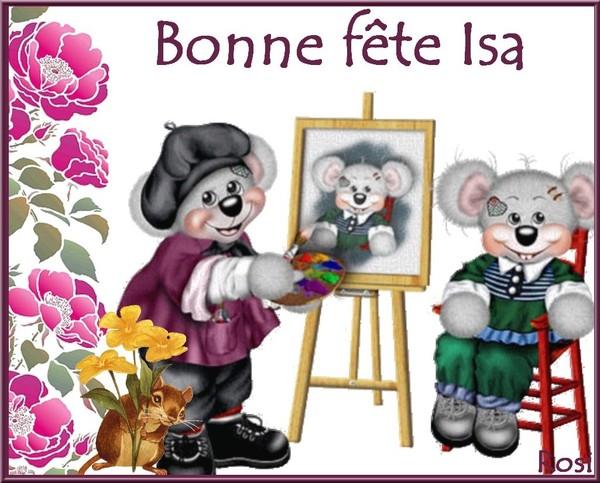 Carte Bonne Fete Isa.Bon Fete Isa