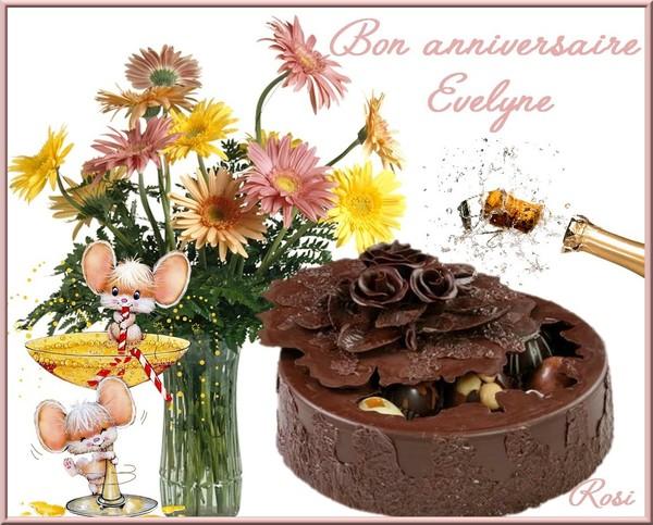 Joyeux Anniversaire Mon Amie Evelyne