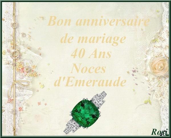 Noce 40 Ans De Mariage
