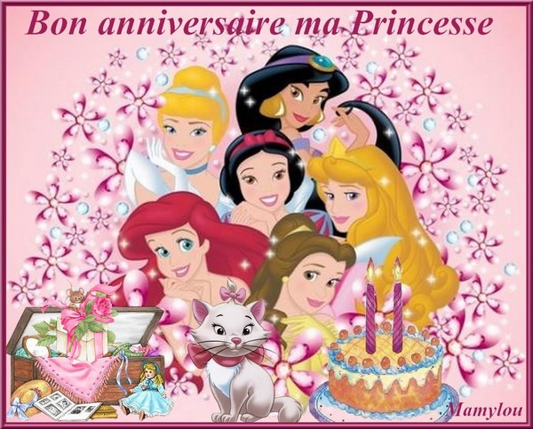 bon anniversaire ma princesse 2 ans. Black Bedroom Furniture Sets. Home Design Ideas