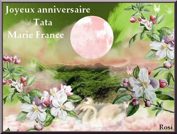 Bon Anniversaire Tata Marie France
