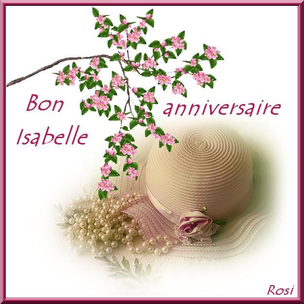 Bon Anniversaire Isabelle