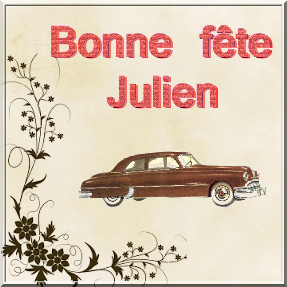 Carte Bonne Fete Julien.Bonne Fete Aux Julien