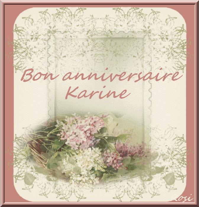 Bon Anniversaire Karine