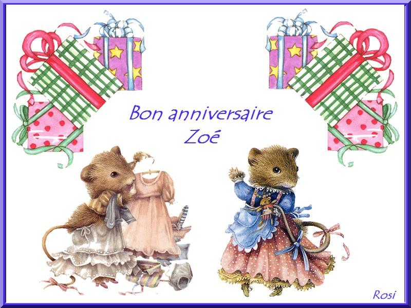 Bon Anniversaire Zoe