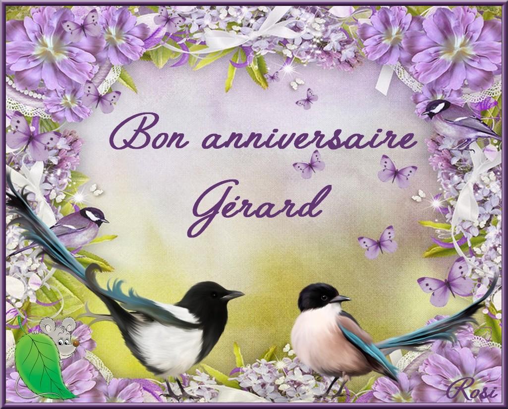 Bon Anniversaire Gerard