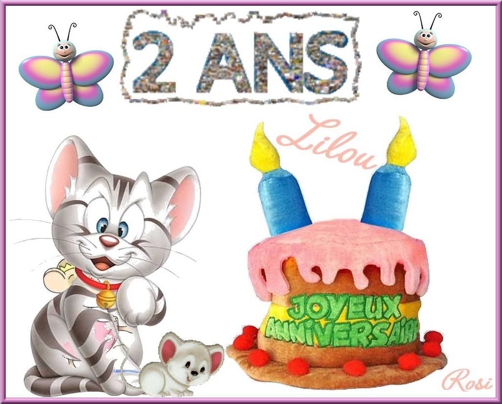 Bon Anniversaire Lilou 2 Ans