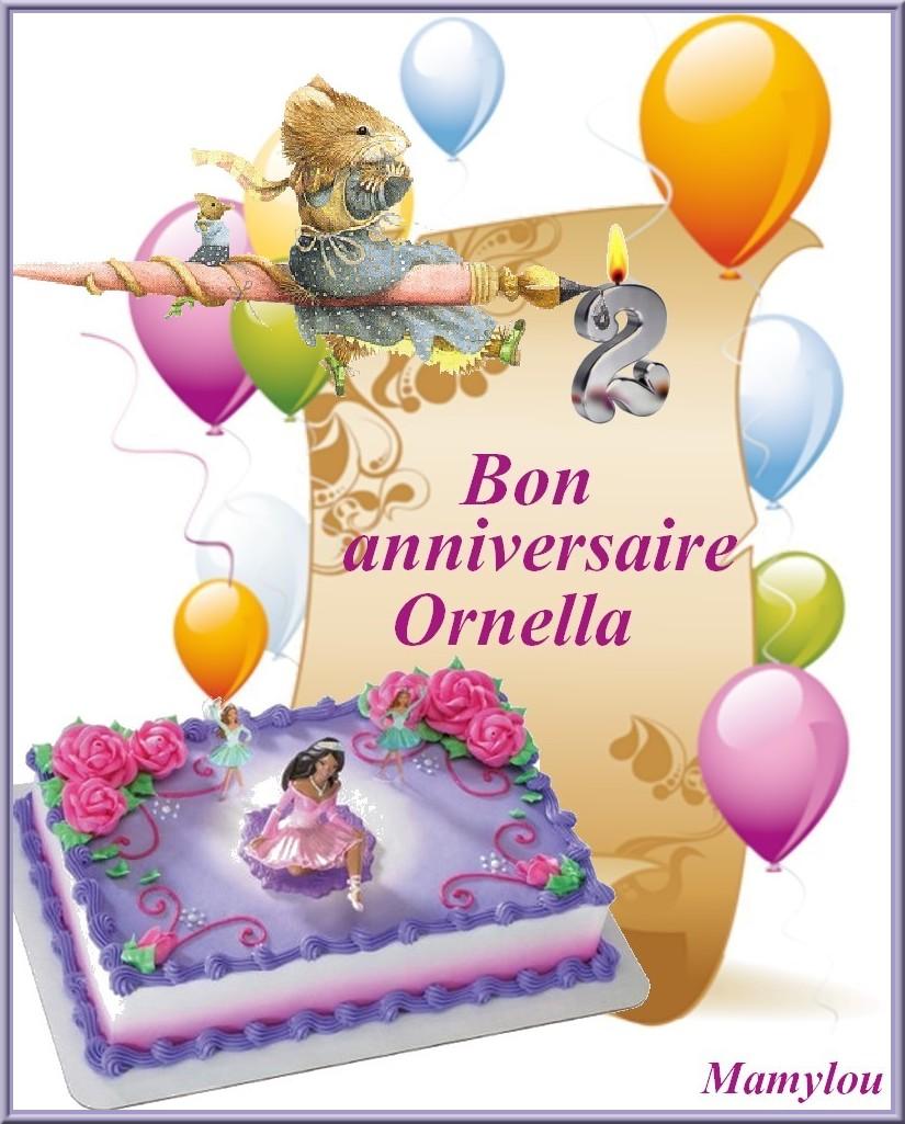 Bon anniversaire ornella 2 ans - Anniversaire fille 2 ans ...