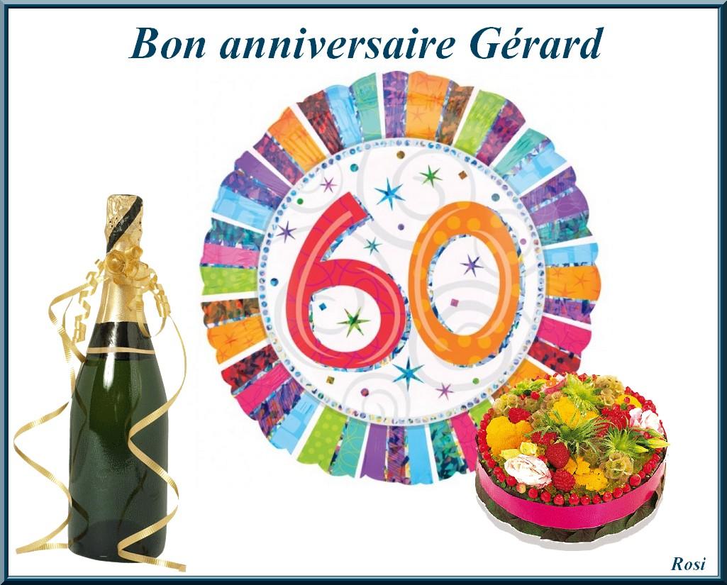 Bon Anniversaire Gerard 60 Ans