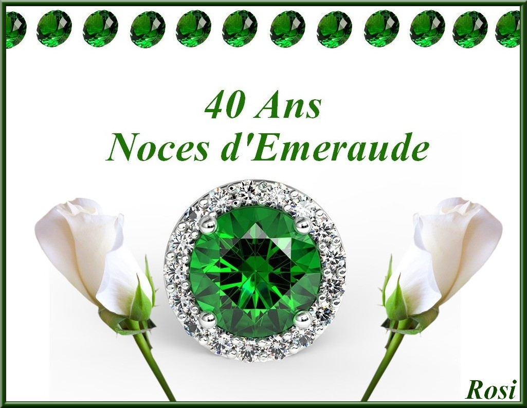 40 Ans De Mariage Noces D Emeraude