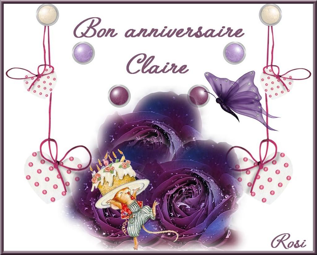 Bon Anniversaire Claire