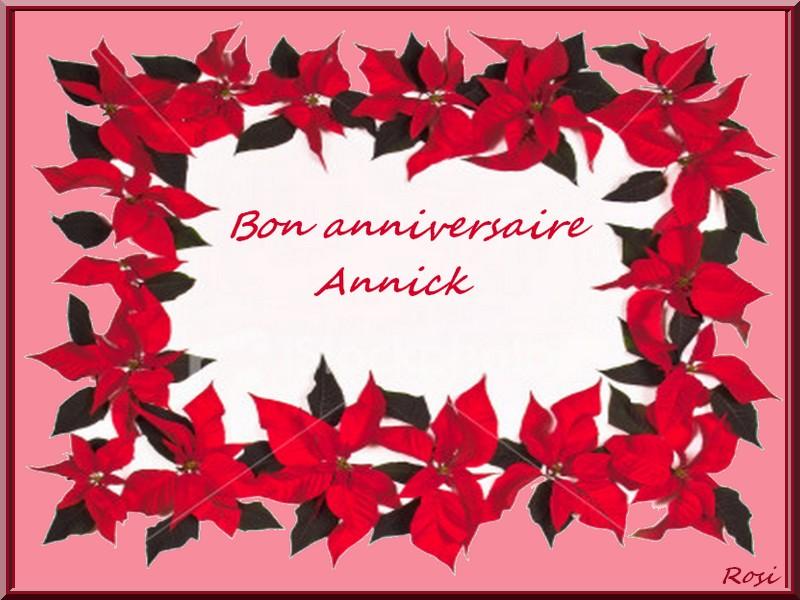 Bon Anniversaire Annick